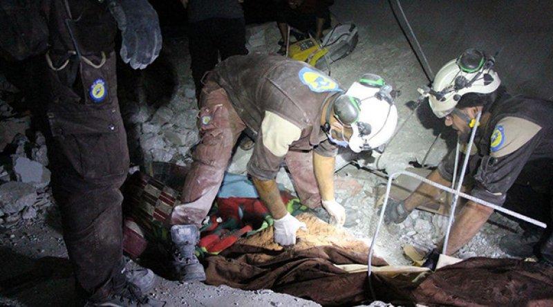 Zalim Esad rejimi İdlib'i vurdu: 6 ölü
