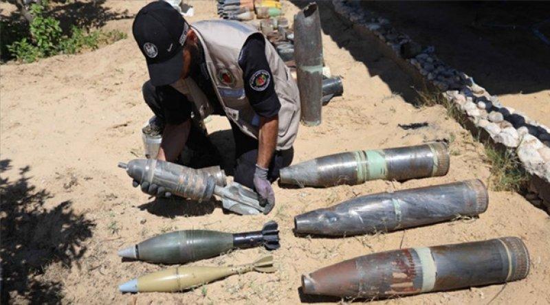 Gazze'de 1200 patlamamış İsrail füzesi ve top mermisi etkisiz hale getirildi