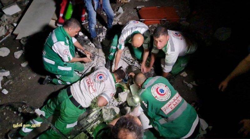 Gece yarısından itibaren Gazze'de 8 kişi şehit oldu
