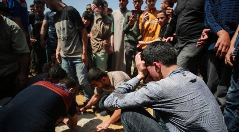 'Siyonist İsrail saldırılarında 10'u çocuk 28 Filistinli şehit edildi'