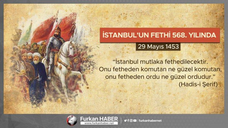 İstanbul'un Fethi 568. Yılında