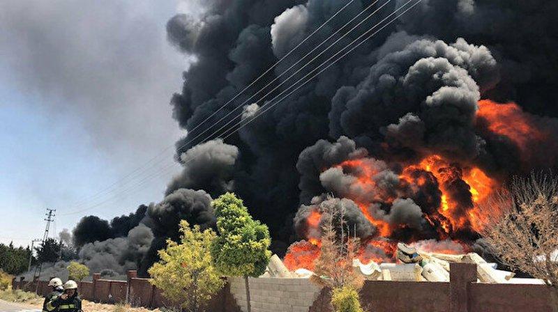 Gaziantep'te hurda deposunda yangın!