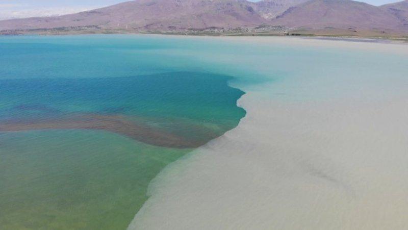 Van Gölü'nün rengi değişti