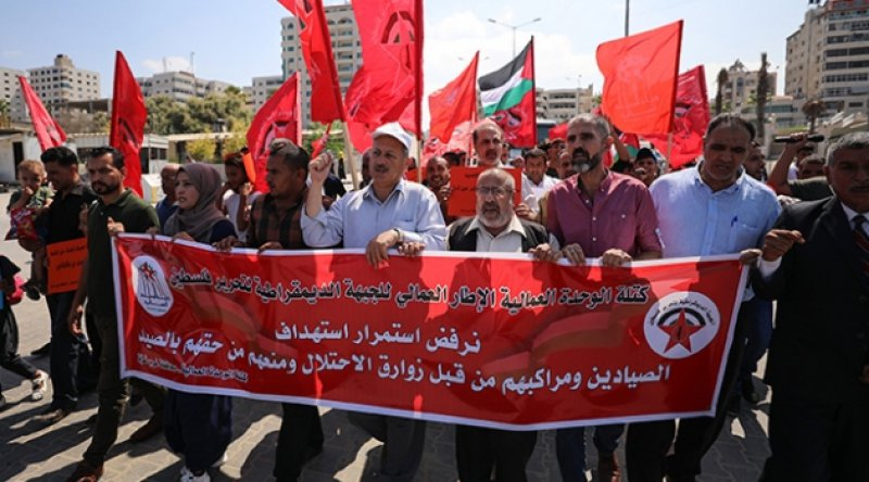 Gazze'de İsrail'in balıkçılara yönelik saldırıları protesto edildi