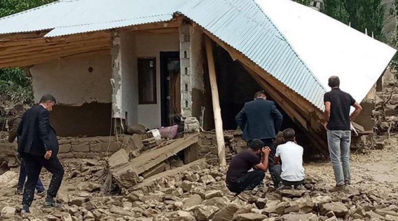 Van'ın Başkale ilçesinde sel felaketi