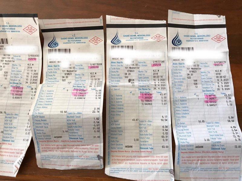 Halktan yüksek gelen su faturasına tepki