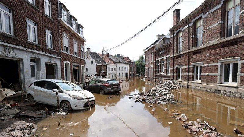Belçika'da geçen hafta 37 kişinin öldüğü bölgeyi yine sağanak ve sel vurdu