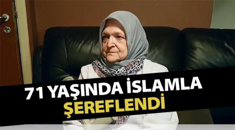 71 yaşındaki Belçikalı kadın şehadet getirerek Müslüman oldu