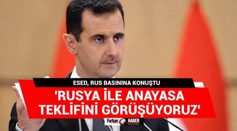 'Rusya ile anayasa teklifini görüşüyoruz'